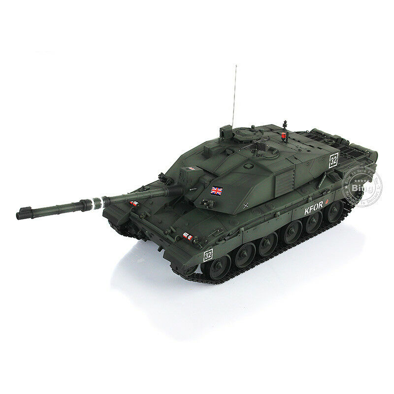 Henglong 1 16 Deep Green UK Challenger II RTR RC Tank Model Plastic Version 3908
