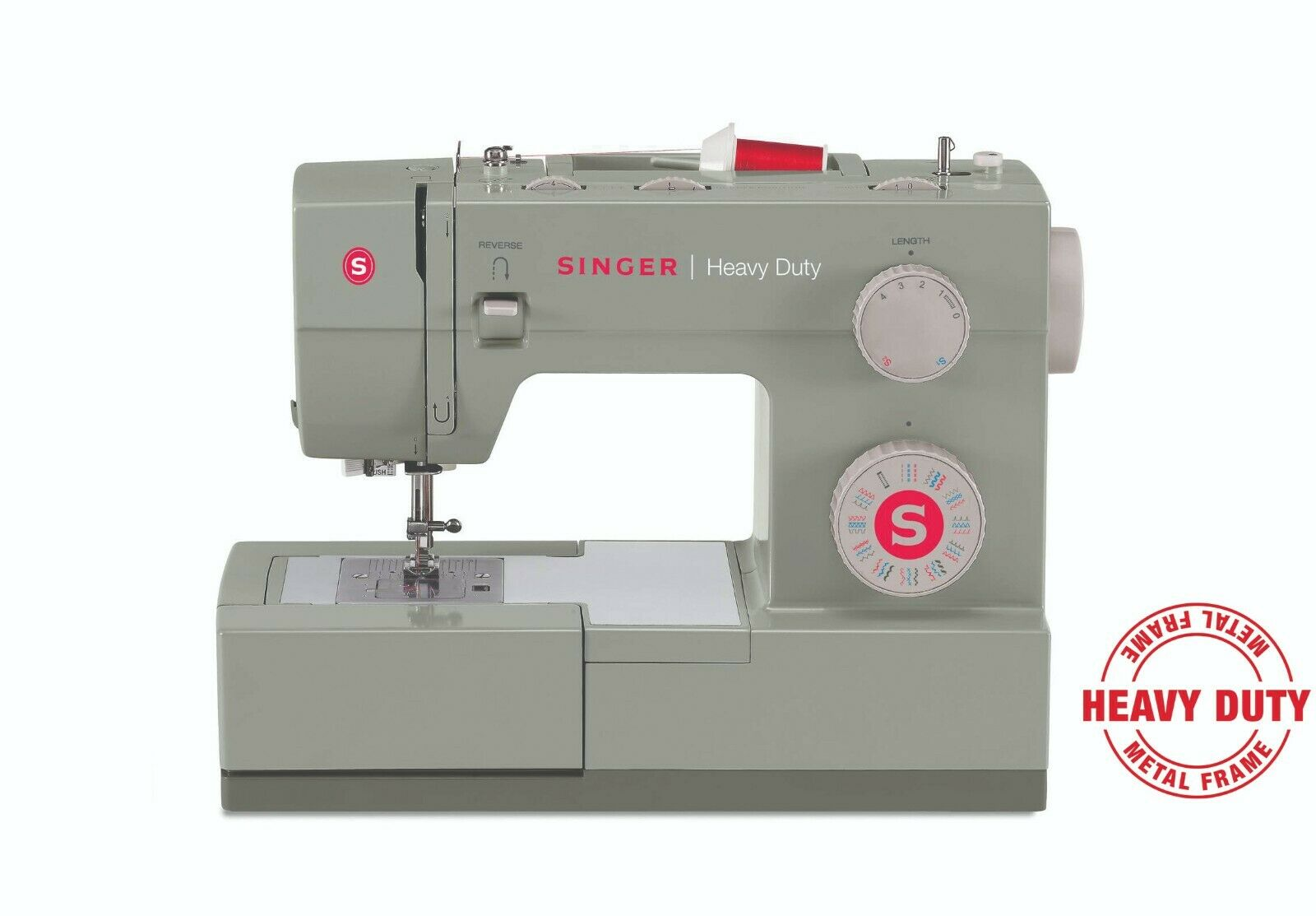 s l1600 - SINGER | Heavy Duty 4452 Sewing Machine with 110 Stitch Applications, READ DISC