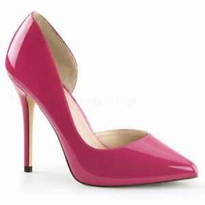 hp Amu22 Abendschuh B¸ro Elegant plateau Hidden Lack Party Pumps Pink Pleaser pfBP5xp