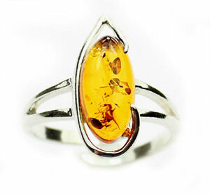 Lovely-Baltic-Amber-amp-925-Sterling-Silver-Designer-Ring-GL407A