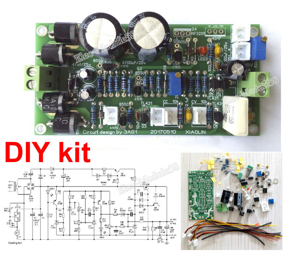 Variable Linear Dc Power Supply 0 15v 5a Regulated Adjustable Lab Circuit Diagram Of 30v Stock Photo