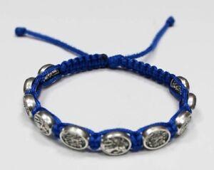 St-Michael-the-Archangel-the-Guardian-Angel-bracelet-on-Blue-Cord-Saint-Michael