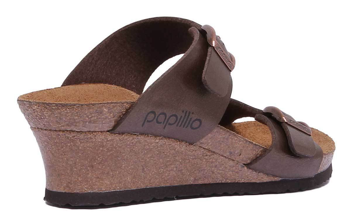Papillio Dorothy Birko Flor Damens Synthetic Leder Leder Leder Graceful Toffee Slide Wedge b40a19