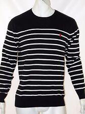 Polo Ralph Lauren striped pima lightweight sweater size small black ON SALE NEW