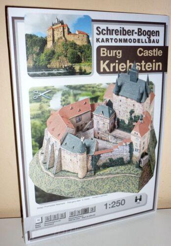 KARTONMODELLBAU  BURG Castle KRIEBSTEIN SCHREIBER-BOGEN   778