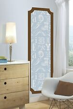 ALPHABET PRINT GiaNT Wall DECAL PANEL Blue Brown MUrAL STickerS Nursery Decor