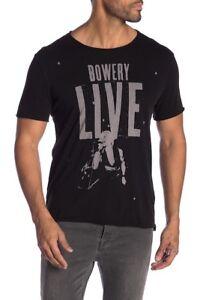 Bowery Graphic Men's neck Varvatos Crew Live Usa Black John Star shirt T R7g0TnX