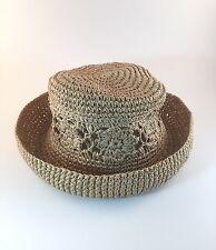 J. Crew Women's Short Brim Hat ONE SIZE Derby Bowler Cloche Paper Beach Summer