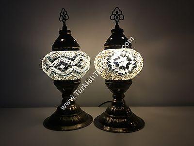 PAIR OF TURKISH MOSAIC TABLE LAMPS TURKISH LIGHTS