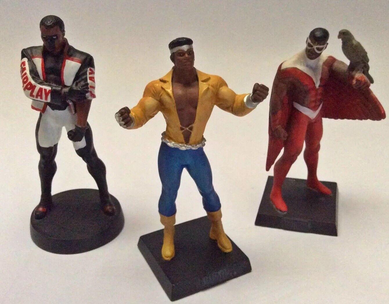 DC Marvel Figurine Collection, Luke Cage, Mr Terrific, The Falcon, magazines Inc