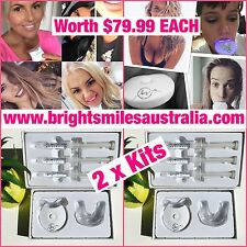 2 x Teeth Whitening Kit Hi Enjoy your Pearly White Smile Bright Smiles Australia