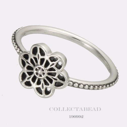 91477bad1 Authentic PANDORA Floral Daisy Lace Sterling Silver Ring 190992-56 Sz 7.5  for sale online | eBay