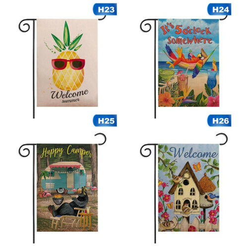 """12x18/"""" Welcome Flag Banner Flower Butterfly Double sided Garden Yard ~ gxi/_"""