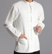 Chinese Style Long Sleeve Mens Kung Fu Cotton Tai Chi Tops Fashion Casual Shirt
