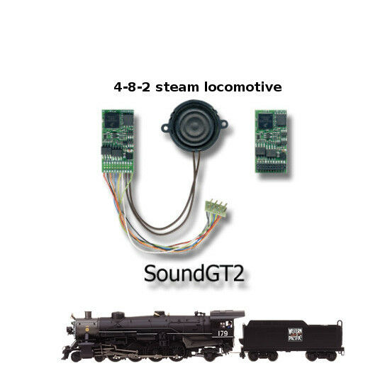 4-8-2 steam locomotive  SoundGT2.1 DCC decoder  for Bachmann, IHC, brass, Bowser