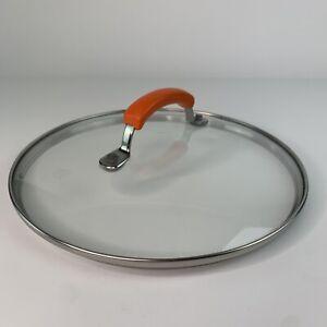 """Rachel Ray Cookware Round Replacement Pot Pan Lid Orange Handle 10/"""""""