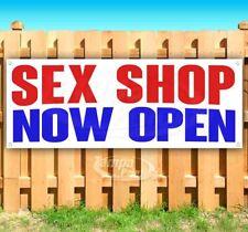 Sex Shop Now Open Advertising Vinyl Banner Flag Sign Many Sizes