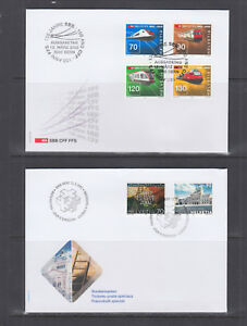 Switzerland-Mi-1778-1809-2002-issues-8-complete-sets-on-8-official-FDCs-VF