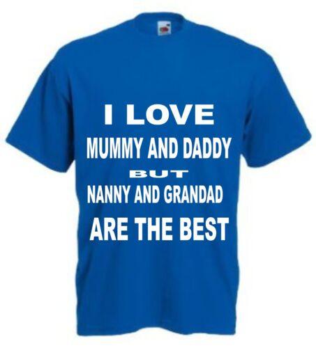 I love maman et papa mais nounou et grand-père Funny T Shirt toutes tailles et p.