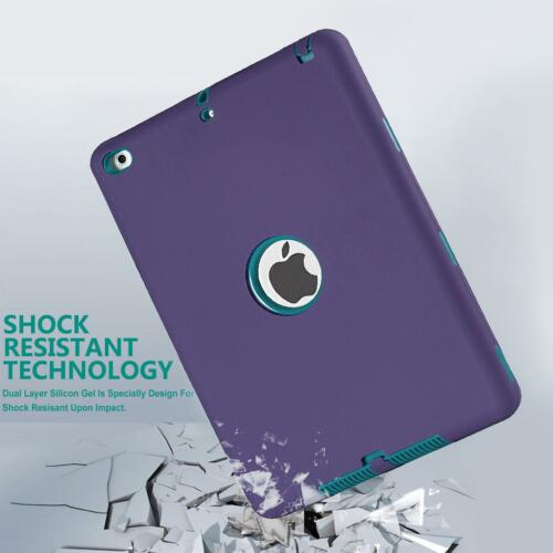 Heavy Duty Rubber Shockproof Case Cover For Apple iPad 2//3//4 Mini 1//2//3 Air 1 2