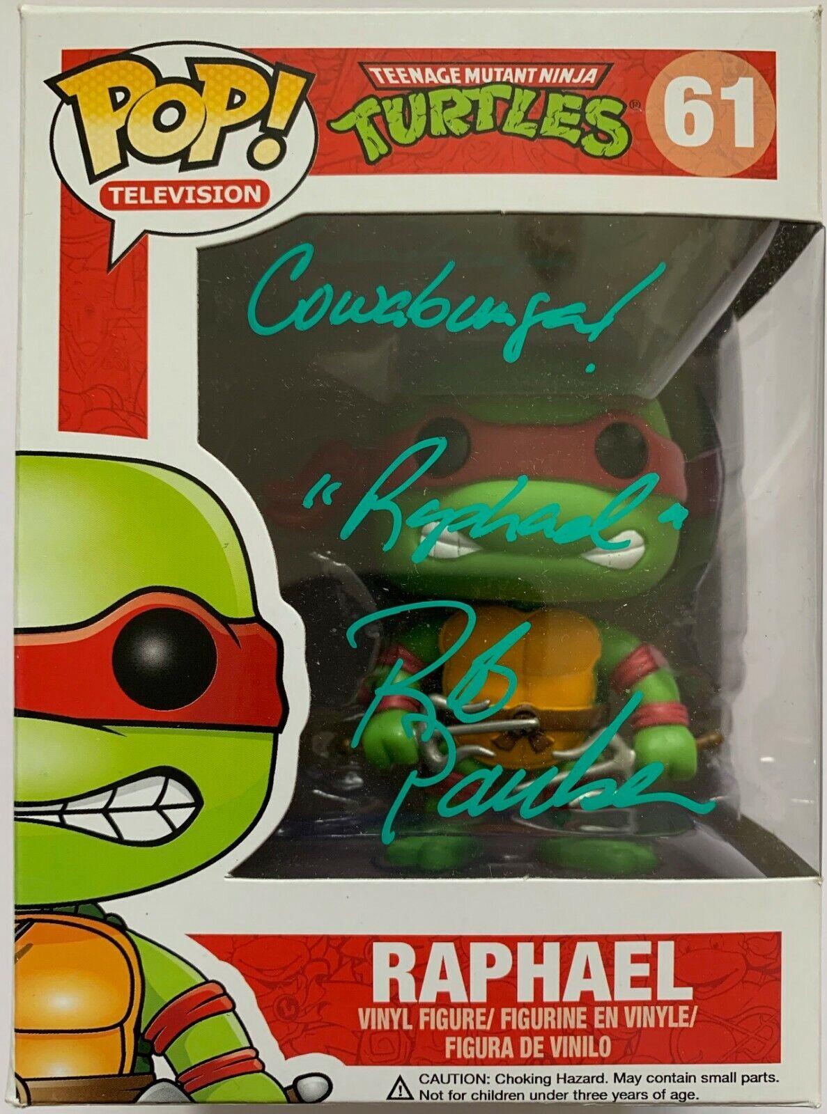 Rob PAULSEN Firmato a uomoo divertiessitoko Pop Tartarughe NinjaRaffaello.