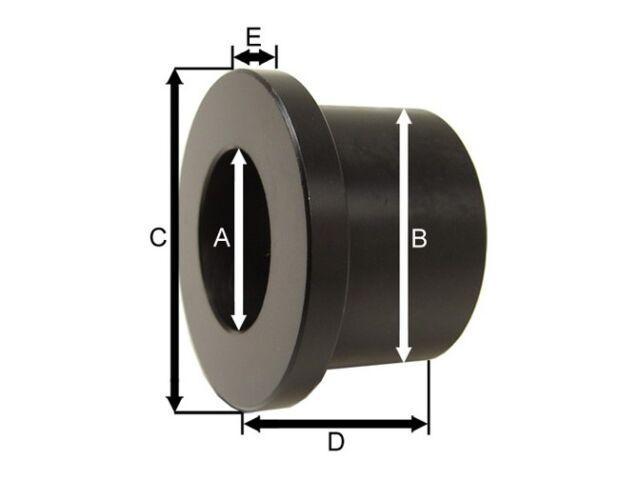 "1/2"" I.D. x 3/4"" O.D. x 1"" Polyurethane Flange Type Bushing  (ES2122)"