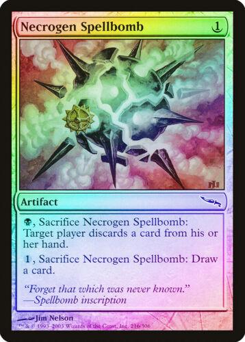 Necrogen Spellbomb FOIL Mirrodin NM Artifact Common MAGIC MTG CARD ABUGames