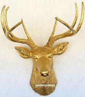 Faux Gold Deer Head 8 Point Buck Wall Mount Decor