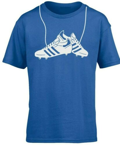 Kids Boys Girls Hanging Football Boots T-Shirt Sport,Games
