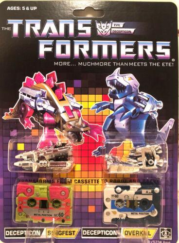 TRANSFORMERS G1 Reissue cassettes Slugfest Overkill brand new
