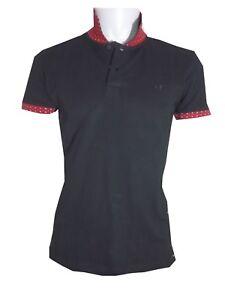 sv52-polo-uomo-slim-elasticizzata-S-M-L-XL-nera-maglia-cotone-manica-corta-mare