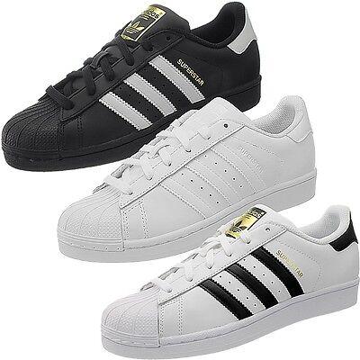 selección asombrosa 100% de alta calidad salida de fábrica Adidas Superstar Foundation Kinder Jungen Damen Sneakers Leder ...