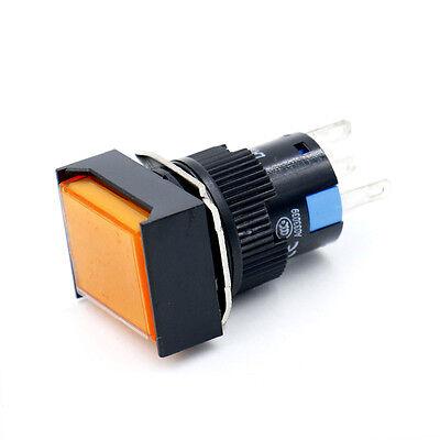 16mm Druckknopf Drucktaster taster Runde Cap LED Grün Licht DC 24V SPDT 5Pin