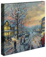 """CHRISTMAS STORY - Thomas Kinkade 14"""" x 14"""" Gallery Wrap Canvas"""