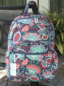 Image is loading VERA-BRADLEY-CAMPUS-ESSENTIAL-LAPTOP-BACKPACK -SCHOOL-COLLEGE- 90f8fbcef18ff