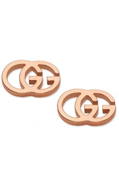 ccb503f46f9be1 GUCCI EARRINGS STUDS GG YBD094074003 woman new warranty lady ROSE gold
