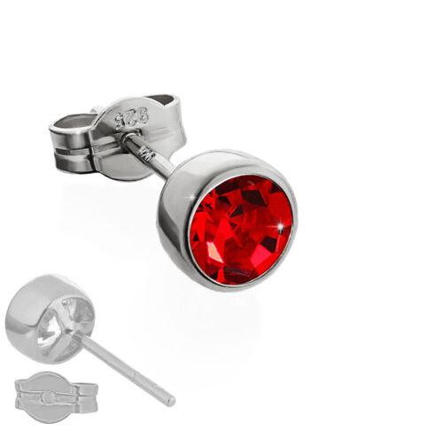 5,50mm SINGLE Ohrstecker 925er Sterlingsilber anlaufgeschützt Zirkonia Ohrringe