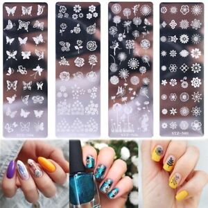 Flower-Butterfly-Nail-Stamping-Plates-Art-Stamp-Stencil-Template-Manicure-Tool