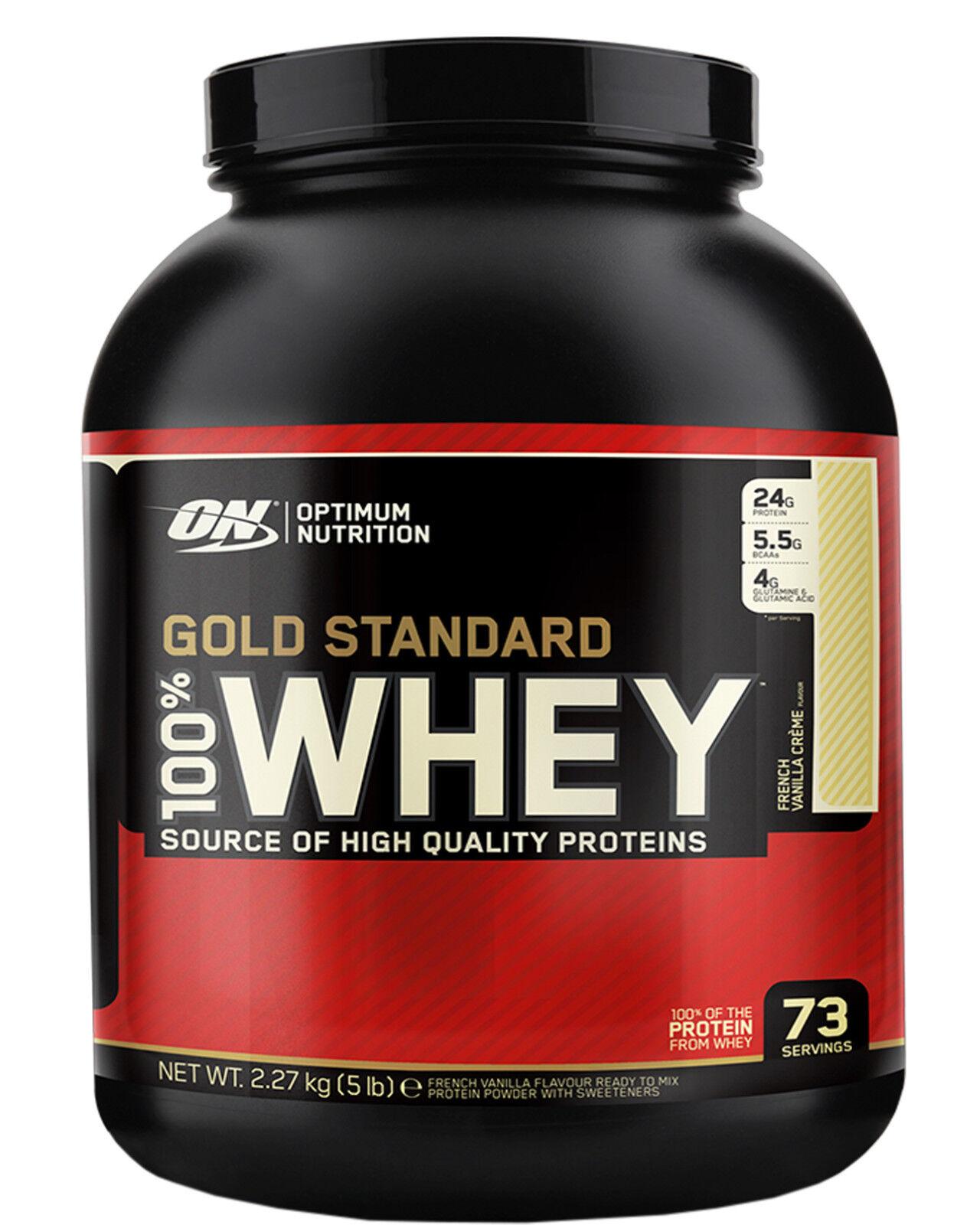 Optimum Nutrition 100% Whey Gold Standard Protein 2,27kg Eiweiß BCAA BCAA BCAA + SHAKER f382f4