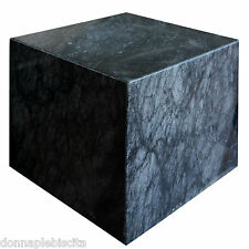 Cubo in Marmo Nero Base Tavolo Black Marble Cube Modern Art and Design h30cm