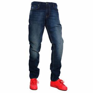 Armani 6x6 J06 6n0zz Hombre Denim Jeans Puro Algodon Slim Fit Pantalones Vaquero Oscuro Ebay