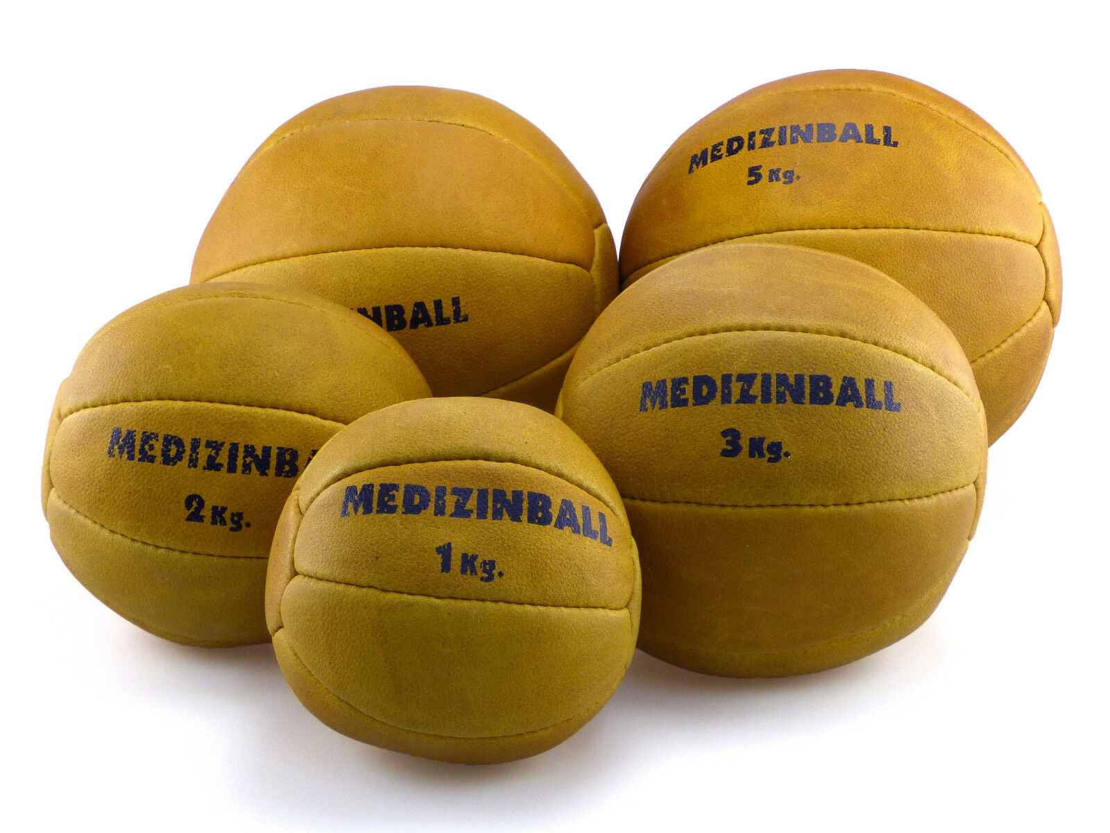 Medizinball Gymnastikball Rehaball Fitnessball Gewichtsball 1 - 5 KG Echtleder