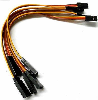 C2001A-3 15cm 22AWG 22 AWG Compatible Futaba Servo Straight Extension Wire 150mm