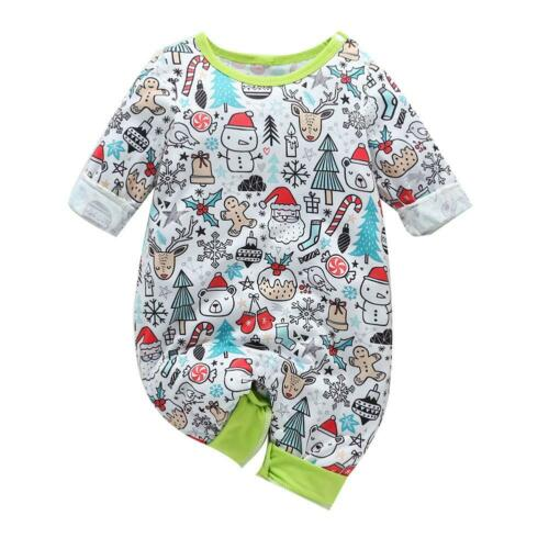 Newborn Infant Baby Boy Girl Cotton Baby Romper Bodysuit Jumpsuit Outfits
