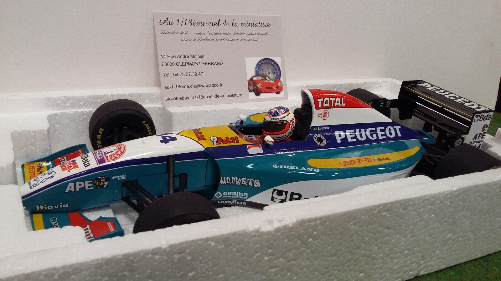 F1 JORDAN PEUGEOT BARRICHELLO EJR 195 1 18 Minichamps 180950014 voiture