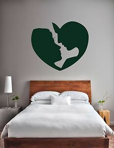 Love wall sticker valentines heart decal faces vinyl bedroom stencil gift ebay - Stencil camera da letto ...