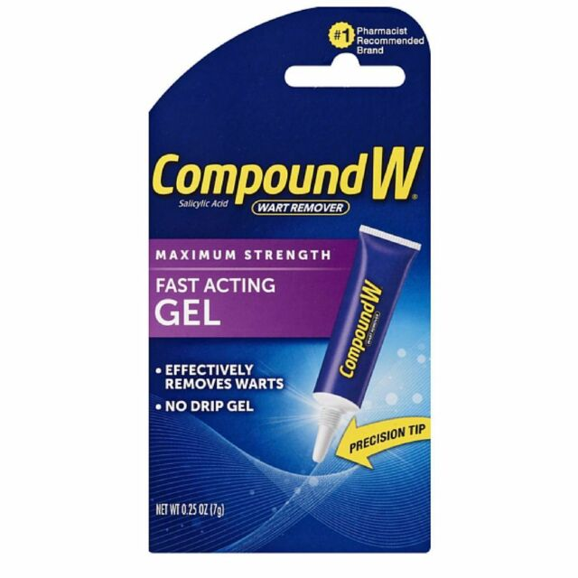 Compound W Fuerza Maxima Verruga Quitaesmalte de Acción Rápida Gel 7.4ml Ml