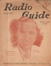 1932 Radio Guide - New York - Wayne King; Eddie Cantor; Jessica Dragonette