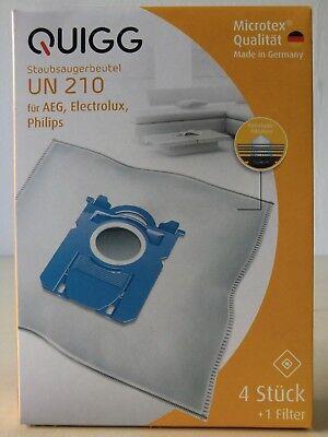4 x Quigg Staubsaugerbeutel UN210 Microfit Plus Filtertüten AEG, Philips | eBay