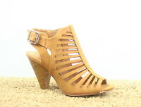 Women's Buckle Open Toe Slingback Chunky Heel Sandals Shoes Size 5.5 - 10 NEW